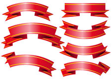 Vector banners. Abstract vector illustration of several red and golden banners Royalty Free Stock Photo