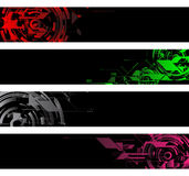 Vector banners. Separated tech shapes banners with text area Stock Image