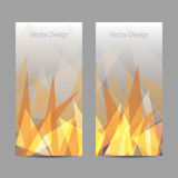Vector banners with abstract flame. A set of modern vector banners with abstract flame Royalty Free Stock Image