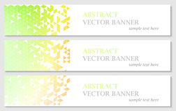 Vector banners with abstract multicolored polygonal mosaic background. Royalty Free Stock Photos