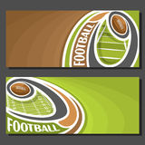 Vector banners for American Football Royalty Free Stock Images