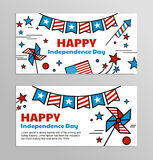 Vector banners for American Independence Day. Royalty Free Stock Image