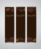 Vector banners with autumn leaves Stock Image