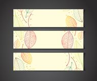 Vector banners with autumn leaves Royalty Free Stock Photo