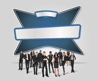 Vector banners backgrounds with business people. Stock Images