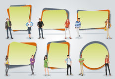 Vector banners / backgrounds with business people. Royalty Free Stock Image