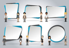 Vector banners / backgrounds with business people. Royalty Free Stock Photo
