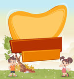 Vector banners backgrounds with cartoon children Royalty Free Stock Image
