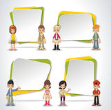 Vector banners / backgrounds with cartoon children. Stock Photography