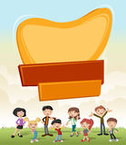 Vector banners backgrounds with cartoon family. Royalty Free Stock Image