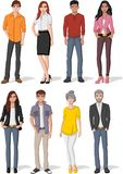 Vector banners / backgrounds with cartoon family. Infographic template design Royalty Free Stock Photography