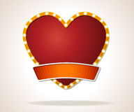 Vector banners backgrounds in shape of a heart icon. Royalty Free Stock Image