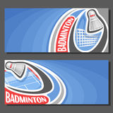 Vector banners for Badminton game Royalty Free Stock Photography