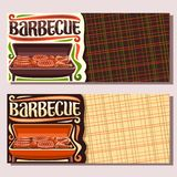 Vector banners for Barbecue vector illustration