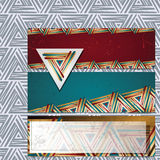 Vector banners on the basis of geometric shapes + pattern Stock Photo