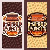Vector banners for BBQ Party stock illustration