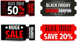 Black Friday. Vector banners for black friday day Stock Photo