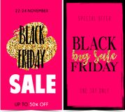 Black Friday. Vector banners for black friday day Royalty Free Stock Photo