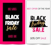 Black Friday. Vector banners for black friday day vector illustration