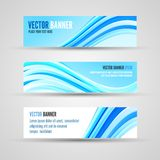 Vector banners blue ocean Royalty Free Stock Images