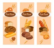 Bread products stock illustration