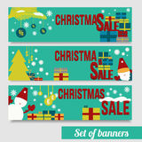 Vector banners Christmas sale EPS10 Royalty Free Stock Image