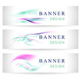 Vector banners collection with abstract multicolored backgrounds Royalty Free Stock Photography