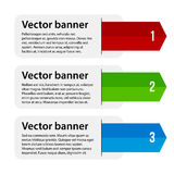 3 vector banners with colorful tags Royalty Free Stock Images