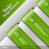 Vector Banners. Vector design elements. Three banners on the gray sheet Stock Image