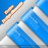 Vector Banners. Vector design elements. Three banners on the gray sheet Stock Photo