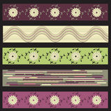 Vector banners with different motifs. Different motifs in 5 banners vector illustration