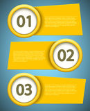 Vector banners element design. Royalty Free Stock Photo