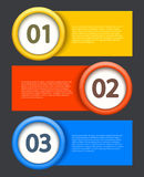 Vector banners element design. Royalty Free Stock Photography
