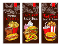 Vector banners for fast food restaurant menu Royalty Free Stock Photography