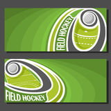 Vector banners for Field Hockey Stock Image