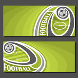 Vector banners for Football Royalty Free Stock Photography
