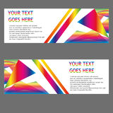 Vector Banners, headers web banners Royalty Free Stock Photo