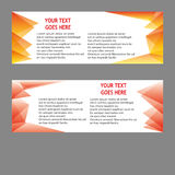 Vector Banners, headers web banners Stock Photo