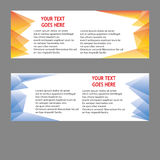 Vector Banners, headers web banners Stock Images