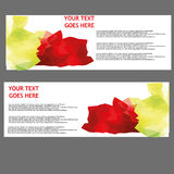 Vector Banners, headers web banners Stock Image