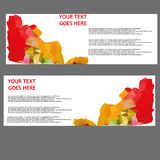Vector Banners, headers web banners Royalty Free Stock Photography
