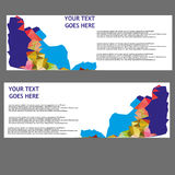 Vector Banners, headers web banners Stock Photos