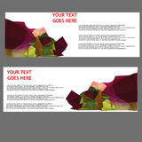 Vector Banners, headers web banners Royalty Free Stock Image
