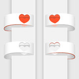 Vector banners with hearts. Stock Photography