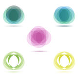 Vector banners. Made from circles isolated in a white background Royalty Free Stock Images