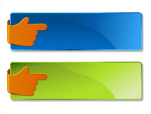 vector banners with navigation hand Stock Image