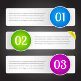 Vector banners with numbers Stock Photo