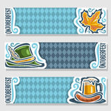 Vector banners for oktoberfest Stock Photography