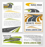 Vector banners for road construction investment Stock Photos