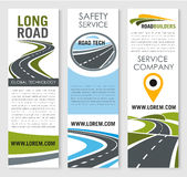 Vector banners of road safery construction company Royalty Free Stock Photos